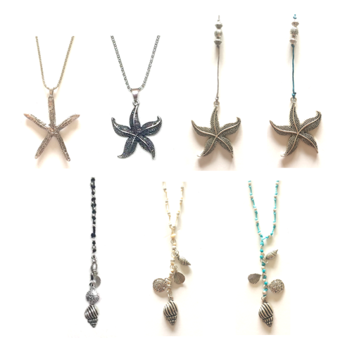 THSAP1093C: (7 pcs) Assorted Pack: Starfish Necklace
