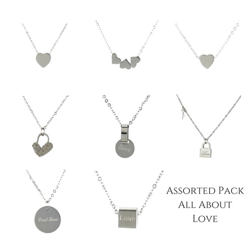 THSAP1135: (8 pcs) Assorted Pack: All About Love Necklace