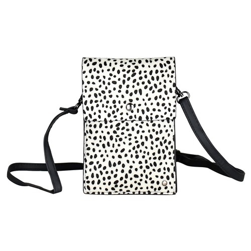 THSB1010: White: Animal Print Cross Bag