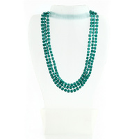 THSJ10021: (1 pc) Square Bead Necklace : Teal
