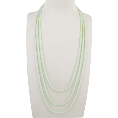 THSJ1179: (2pcs) Light Mint: 3 Strands Bead Necklace