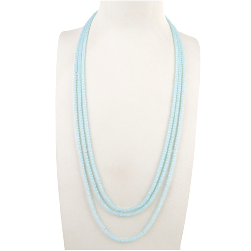 THSJ1181: (3pcs) Sky Blue: 3 Strands Bead Necklace