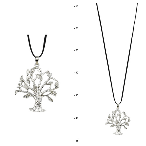 THSJ1232: (2pcs) Silver: Tree of Life Pendant Necklace