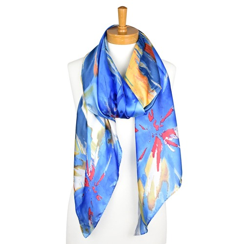THSS2146: Blue Navy: Multi Colour Scarf