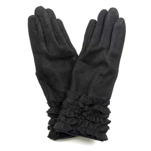 VG1926B: Black: Daisy Pure Wool Gloves