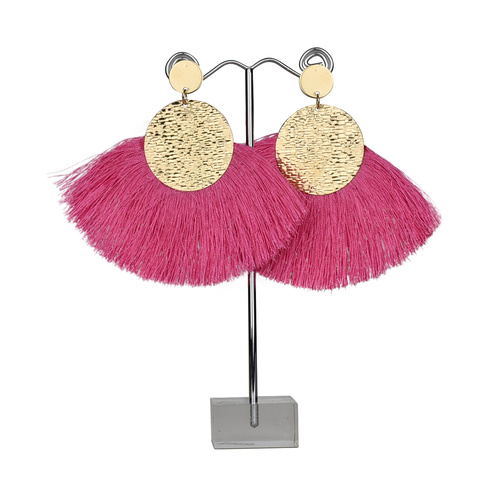 THSE1004: (2pairs) Rose: Fan Tassels Earring