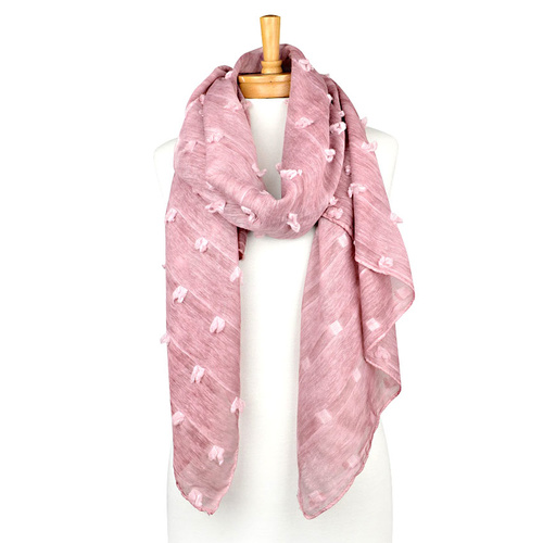 THSS1833: Dusty Pink: Mini Square Design Scarf