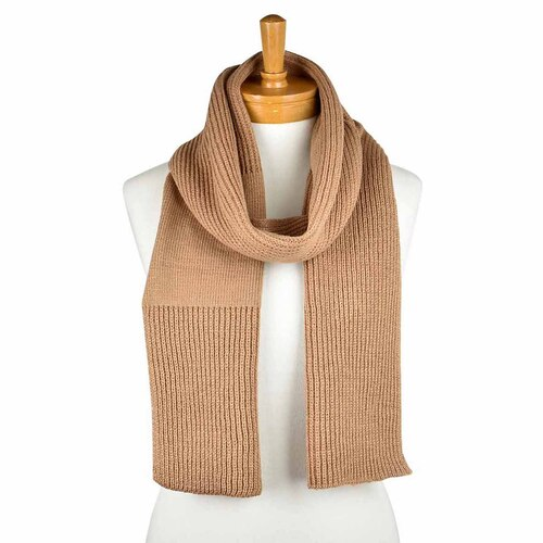 THSS2250: Brown: Plain Loop Through Scarf