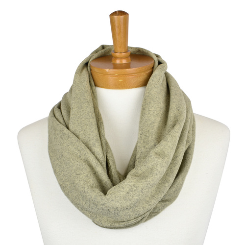 THSSN1081 Light Olive: Plain Jersey Snood
