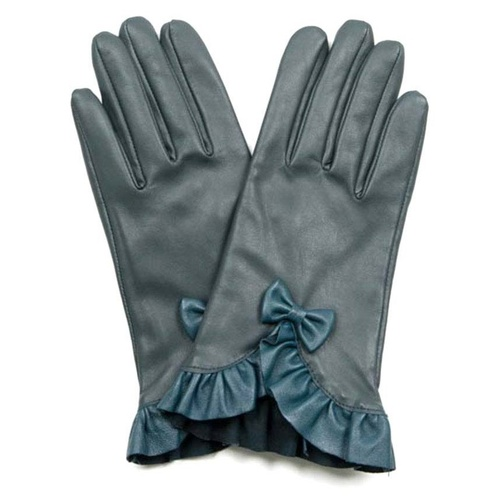 VG1906G: Green: Prunella Italian Leather Gloves